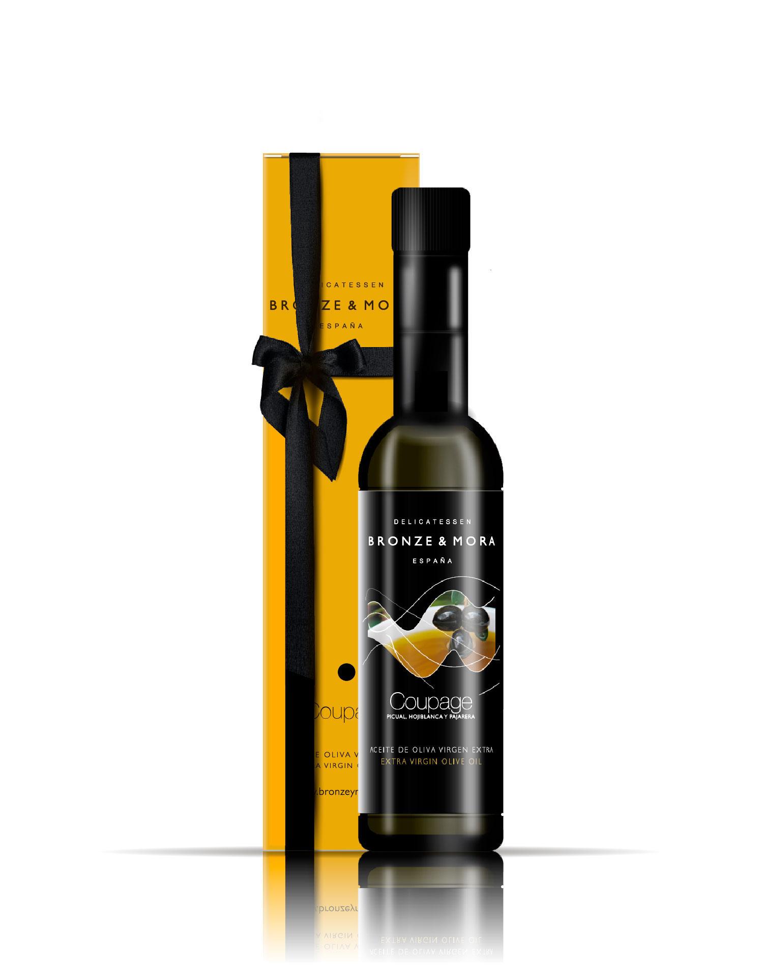 Botella aceite de oliva Coupage Bronze & Mora regalo gourmet