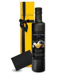 Botella cornicabra Bronze y Mora aceite de oliva virgen extra ideal como regalo gourmet, regalo personalizable, cesta de Navidad y regalo de empresa aceite para regalar oleoteca madrid