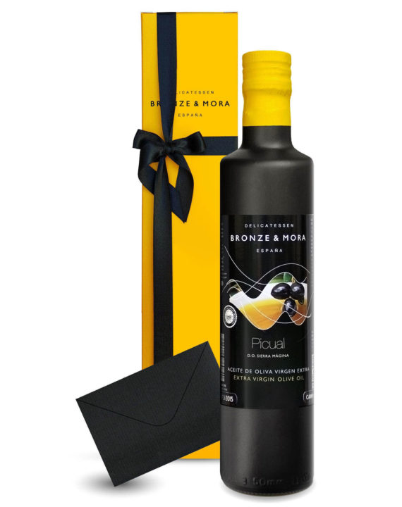 botella-y-estuche-picual-aceite-de-oliva-virgen-extra-para-regalar-regalo-gourmet-bronze-y-mora