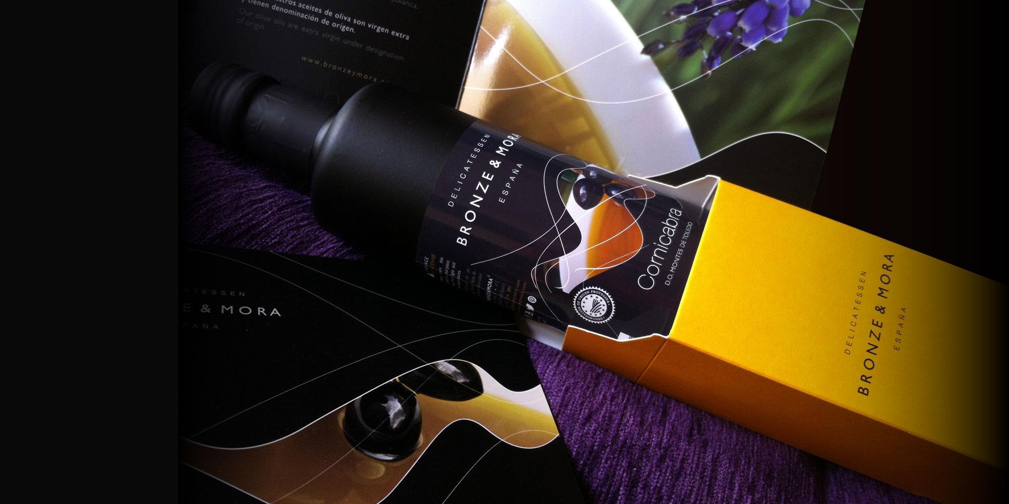 Aceite de oliva virgen extra Bronze y Mora ideal como regalo gourmet y aceite para regalar