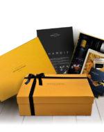 Estuche regalo Chamois Bronze y Mora aceite de oliva virgen extra ideal como regalo gourmet, regalo personalizable, cesta de Navidad, regalo de empresa y aceite para regalar con oleoteca en Madrid