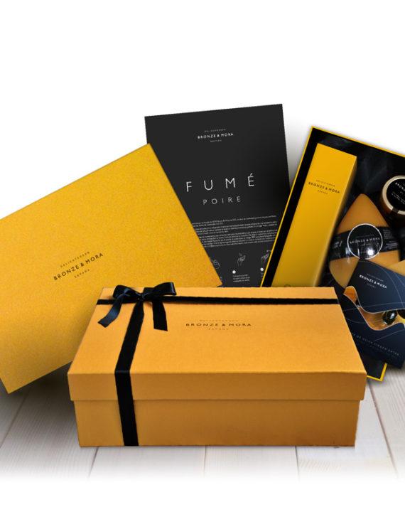 estuche-para-regalar-fume-poire-bronze-mora-aceite-de-oliva-para-regalar-regalo-gourmet-empresa-cesta-navidad