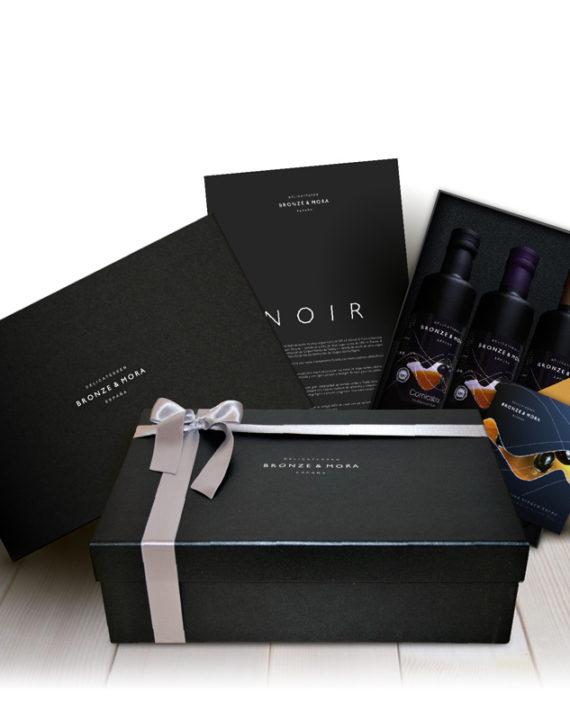 estuche-para-regalar-noir-bronze-mora-aceite-de-oliva-para-regalar-regalo-gourmet-empresa-cesta-navidad