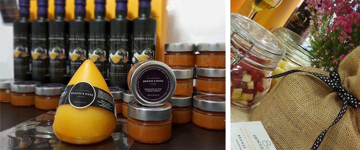 Productos Bronze y Mora regalo gourmet aceite de oliva para regalar oleoteca Madrid