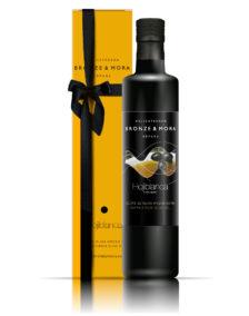 Botella aceite de oliva Hojiblanca Bronze & Mora regalo gourmet