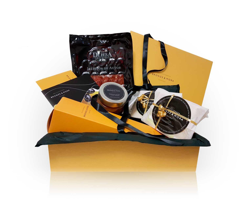 Cesta regalo gourmet bon appetit xl lomo bronze y mora
