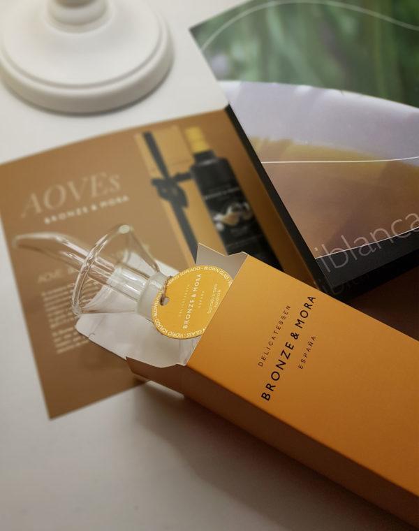 aceitera Bronze & Mora regalo gourmet