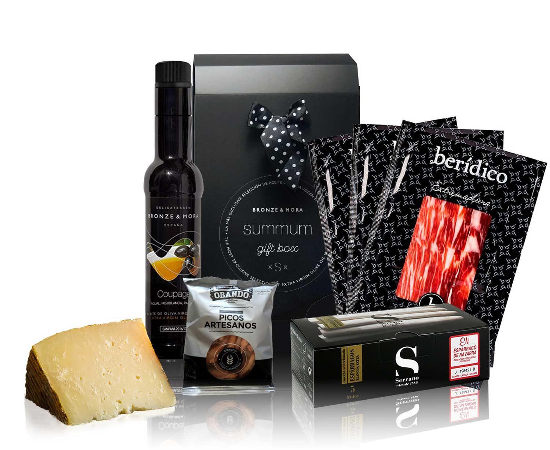 Cesta-regalo-gourmet-summum-S-productos-ibericos-bronze-y-mora