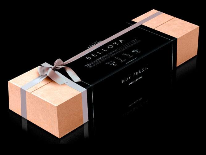 regalo corporativo cesta de navidad paleta iberica bellota